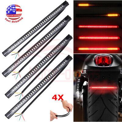 Universal Bendable Motorcycle 48LED Light Strip Rear Tail Brake Stop Turn Signal