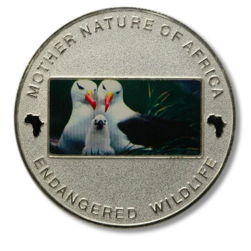 Malawi Mother Nature of Africa Seagulls & Chick 10 Kwacha 2004 Proof Color Crown