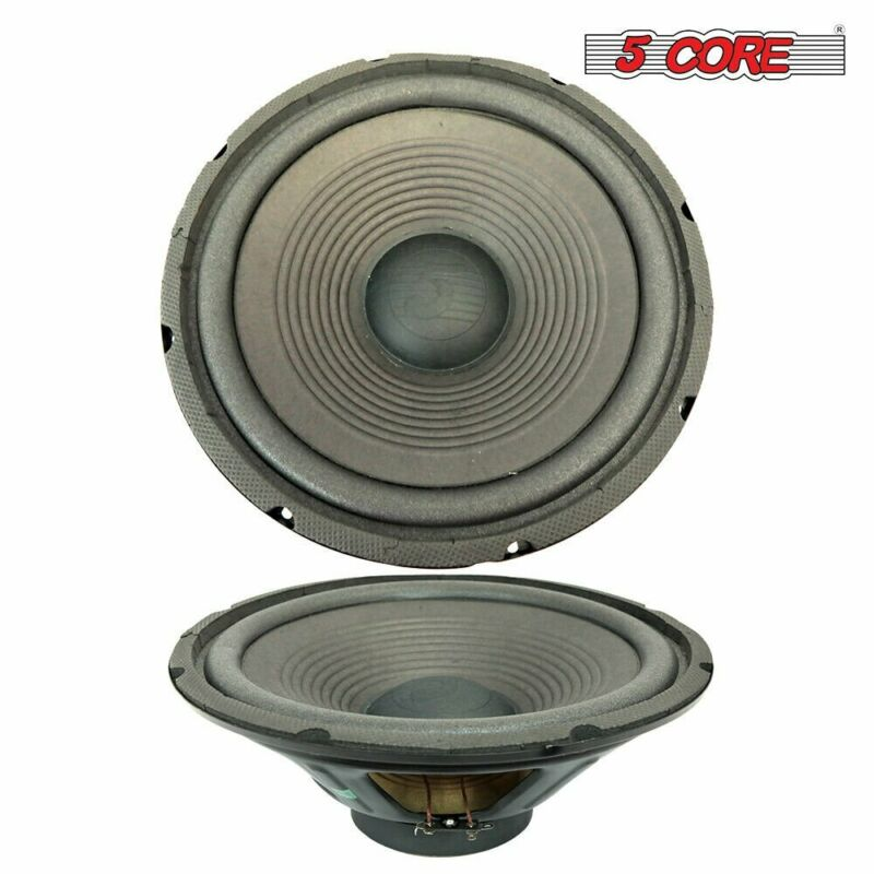 """5 Core 12"""" Replacement Woofer 120mm Magnet 120W RMS 8Ohms PMPO 1200 Watts 2Pcs"""