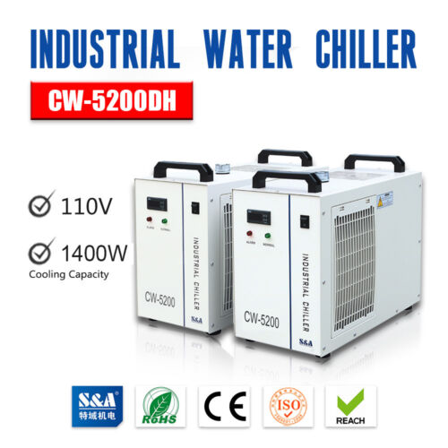 USA S&A Industrial Water Chiller CW-5200DH for Single 130W-150W CO2 Laser Tube