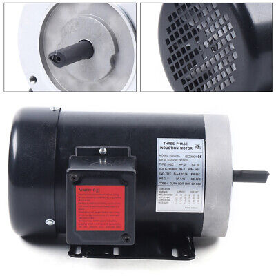 2 Hp 3 Phase Electric Motor 3450 Rpm For Oilfield Agriculture And Air Compressor