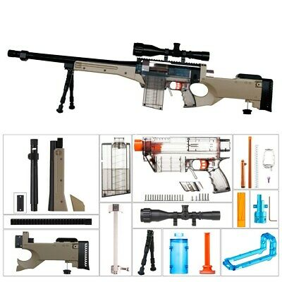 Worker4Nerf L96 AWP Imitation Mod Kit for Nerf Retaliator & Prophecy-R Blaster
