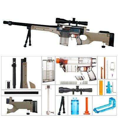 Worker4Nerf L96 AWP Imitation Mod Kit for Nerf Retaliator & Prophecy-R Blaster