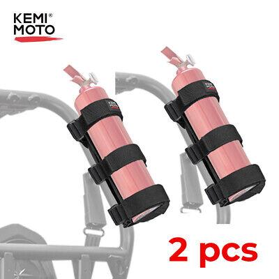 2pcs Car Roll Bar Mount Fire Extinguisher Holder Belt Strap Adjustable For Utv