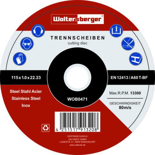 Trennscheiben 25 Stück Ø115mm Flexscheibe Inox Schruppscheibe Metall Stahl Blech