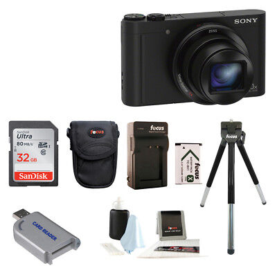 Sony Cyber Shot Dsc Wx500 Digital Camera  Black  Bundle