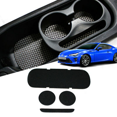 Double Sided Carbon Style Console Cup Holder Tray Pad 4p Set for 13-18 toyota 86