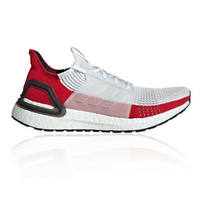 adidas Mens UltraBOOST 19 Running Shoes Trainers Sneakers - Red White Sports