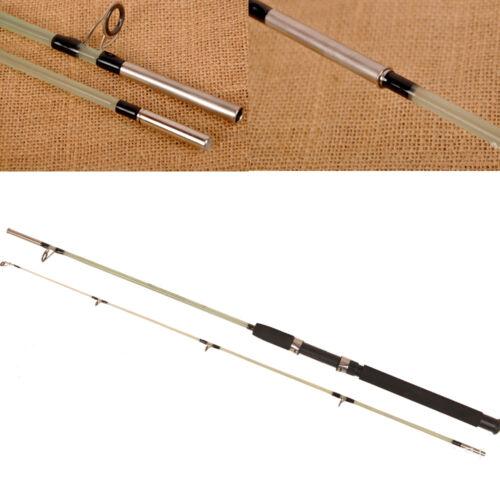 Long shot fishing rod lure rod 2 sections fiberglass ice for Shooting fishing rod