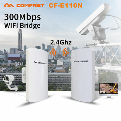 Wifi Access Point Bridge (Outdoor CPE Wireless Access Point WiFi Bridge High Power AP Router Network POE G)