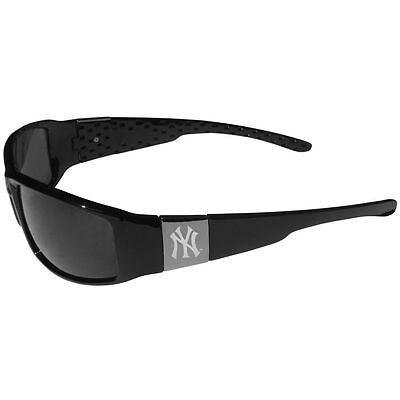 New York Yankees Chrome Wrap Sunglasses MLB Licensed Baseball Eyewear](New York Yankee Baseball)