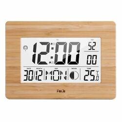 Digital Wall Clock LCD Big Large Number Time Temperature Calendar Alarm Clock