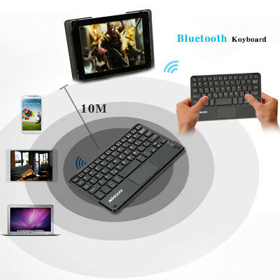 Mini Bluetooth 3.0 Wireless Keyboard Mouse Touchpad for PC Android Windows US