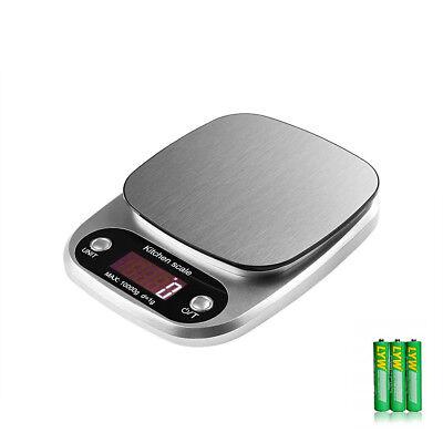Uten 10kg/1g Küchenwaage Edelstahl LCD Display Haushaltswaage Kitchen Scale Tara