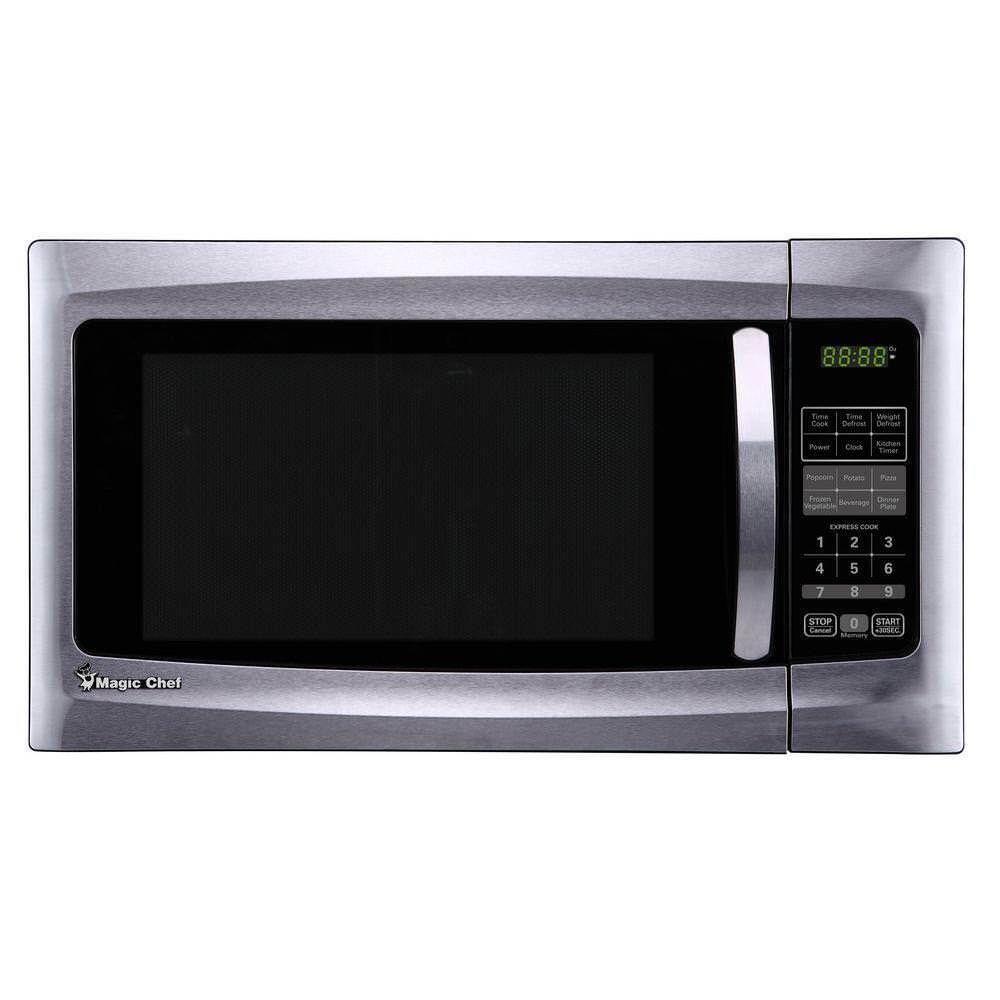 Magic Chef MCM1611ST 1.6 cu ft 1100 Watt Microwave Oven Coun