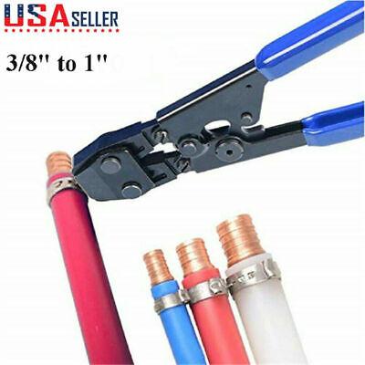 """5//8/"""" /& 3//4/"""" PEX Crimp Tool Kit with Decrimper for sizes 3//8/"""" 1//2/"""""""