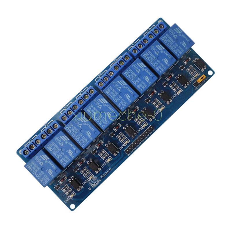 8 Channel 12V Relay Shield Module Board For Arduino UNO 2560 1280 ARM PIC AVR
