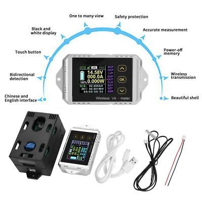 Wireless Dc 0400v 0300a Voltage Current Watt Power Capacity Lcd Combo Meter
