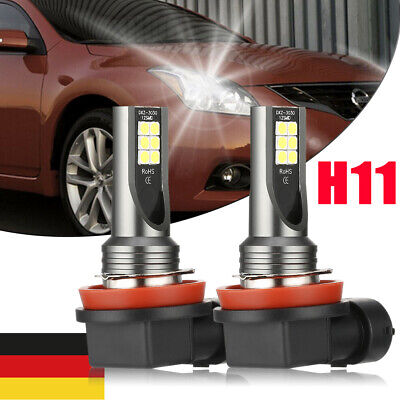 2x H11 Auto LED NebelScheinwerfer Birnen Fernlicht Kit 6000K Canbus VS XENON DHL