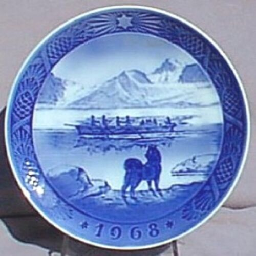 ROYAL COPENHAGEN 1968 Christmas Plate – The Last Umiak