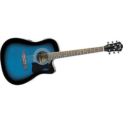 Blue Ibanez Acoustic/Electric Guitar