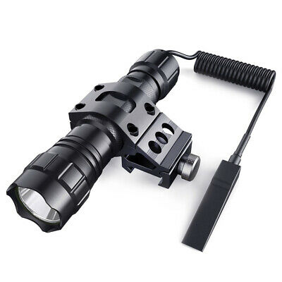 Tactical Flashlight 1000 Lumen LED Rechargeable for Outdoor Hunting Shooting