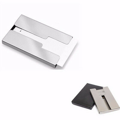 Men Case Thumb Pocket Metal Business Card Case Holder Business Name Card