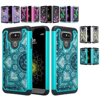 For LG G6 / G6 Plus Hybrid Hard Diamond Bling Cell Phone Case Skin Rubber Cover Cell Phone Hard Skin