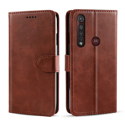 For Motorola Moto G8 Power Slim PU Leather Stand Wallet Phone Case Flip Cover