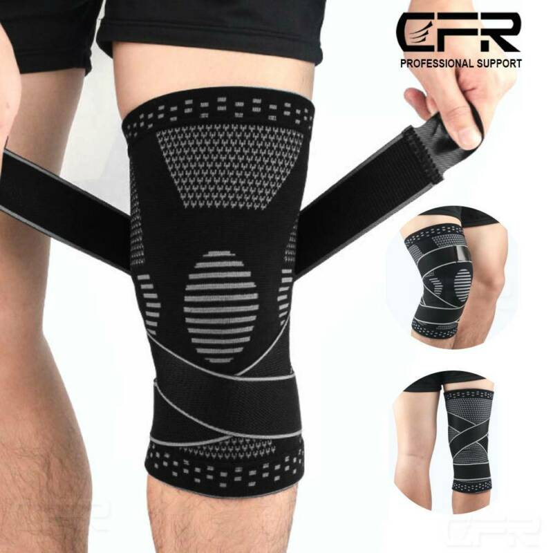 Knee Support Brace Copper Compression Sport Joint Pain Arthr