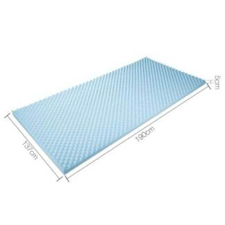 Gel Infused Egg Crate Mattress Topper  - Double