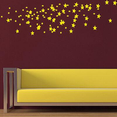Confetti Wall Decal Set of Gold Stars Decals Vinyl Sticker Nursery Decor KY78](Gold Nursery Decor)