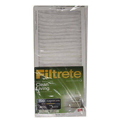 Filtrete 14x30x1, AC Furnace Air Filter, MPR 600, Clean Living Dust Reduction ()