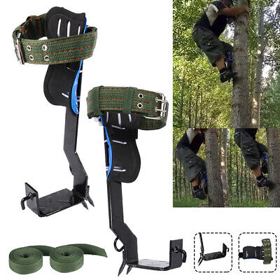 2 Gears Tree Pole Climbing Spike Set Safety Adjustable Lanyard Rope Rescue Belt