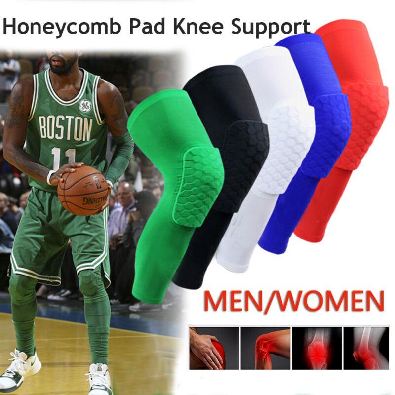 Men Pad Honeycomb Leg Support Knee Sleeve Braces Sports Supp