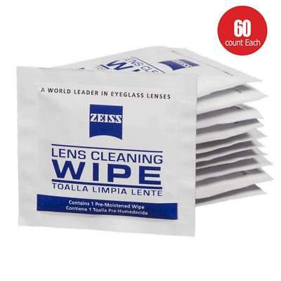 Zeiss Pre-moistened Lens Cleaning Wipes 60 CT-Glasses Cameras Binoculars Optical for sale  Shipping to India