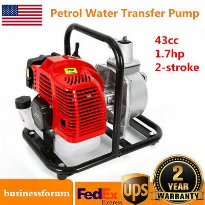 1 Inch 1.7hp 2stroke Petrol Water Transfer Pump High Pressure Irrigation Pump Us