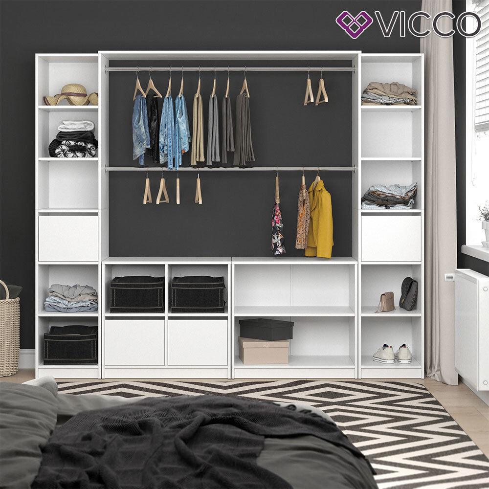 Riesiger Kleiderschrank 5077 Begehbar Offen Garderobe Schrank