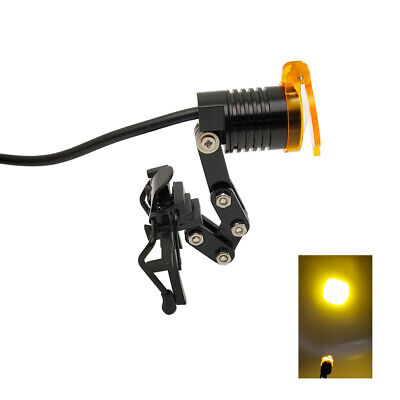 Dental Medical 3w Led Head Light Lamp With Filter Metal Clip-on Headlight