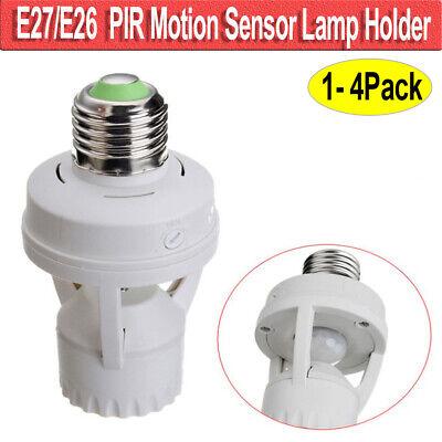 Motion Sensor Light Bulb Lamp Socket Adapter Infrared Sensor For E26/E27 Base -