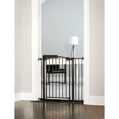 New Regalo Easy Step Arched Décor Walk Thru Baby Gate, 0370 BR DS