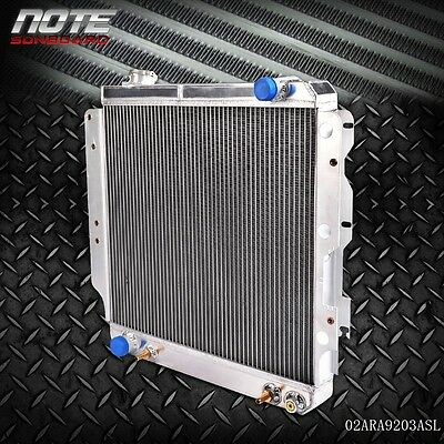 Best 60mm All Aluminum Racing Radiator For 87 06 Jeep Wrangler YJTJ 24L  42L