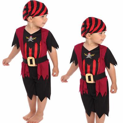 Piraten Kleinkind Mädchen Jungen Kinder Kostüm Buch Kostüm S 2 - 3 - Kleinkind Jungen Piraten Kostüm