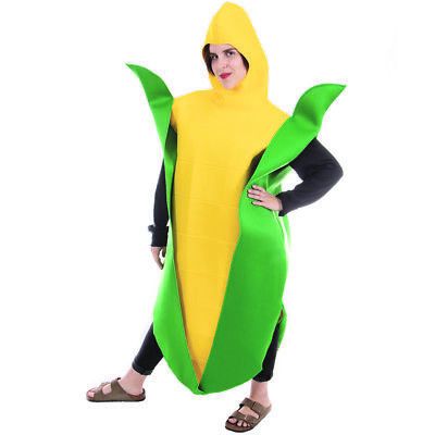 Golden Corn Cobb Halloween Adult Costume - One-Size Unisex Food Mascot Outfit New Mascot Costume