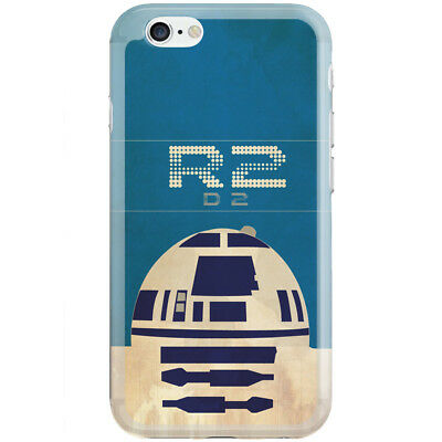 Apple iPhone 6/6S/6 Plus/7/7 Plus/8/8 Plus/X Case Cover Star Wars R2D2 Vint
