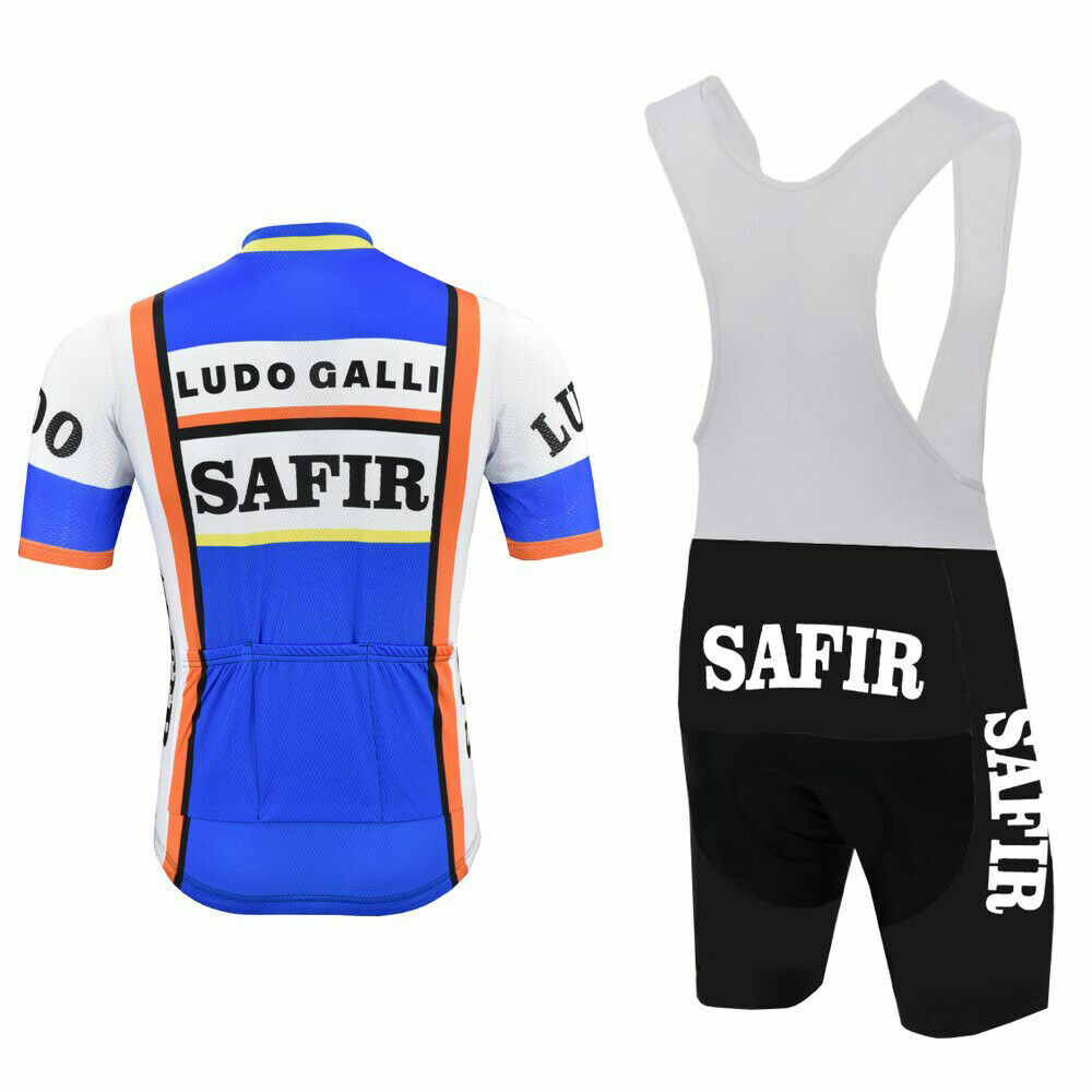 Retro  LUDO GALLI SAFIR Cycling Jersey and  Bib Short Set
