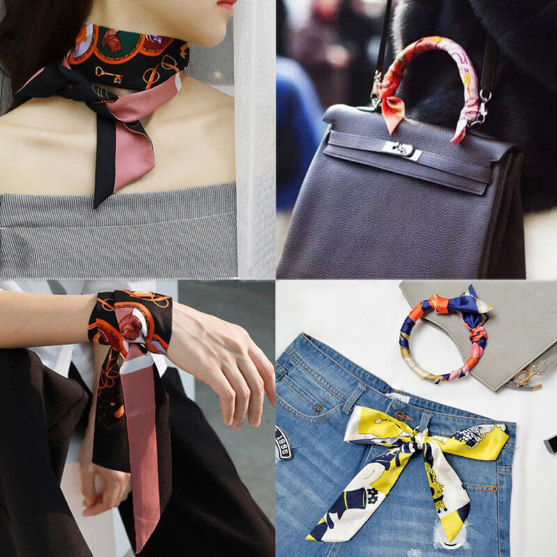 36 Colors Twill Floral Scarf Handle Tie Bag Belt Strap Handb