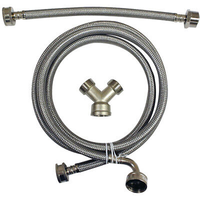 CERTIFIED APPLIANCE Braided Steam Dryer Installation Kit, Stainless Steel, 6 Ft.