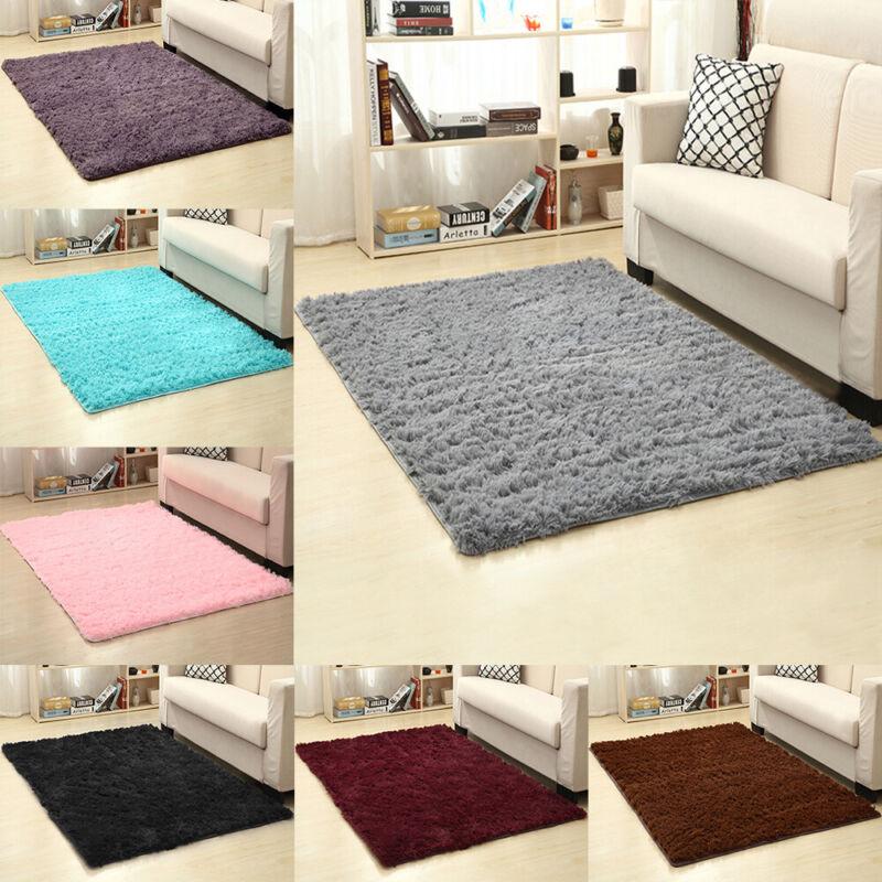 Shaggy Fluffy Area Rug Room Carpet Home Bedroom Floor Mat Kids Playmat Non-slip