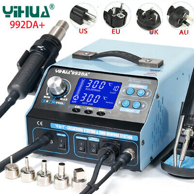 Bga Rework Soldering Station Smd Hot Air Gun Solder Iron Pen Repair Board 992da
